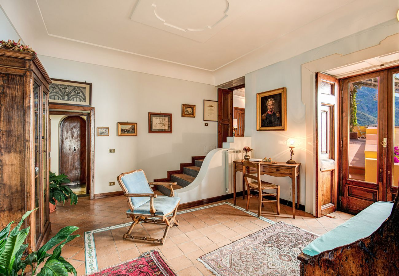 bright and wide living area, with classic furnitures
