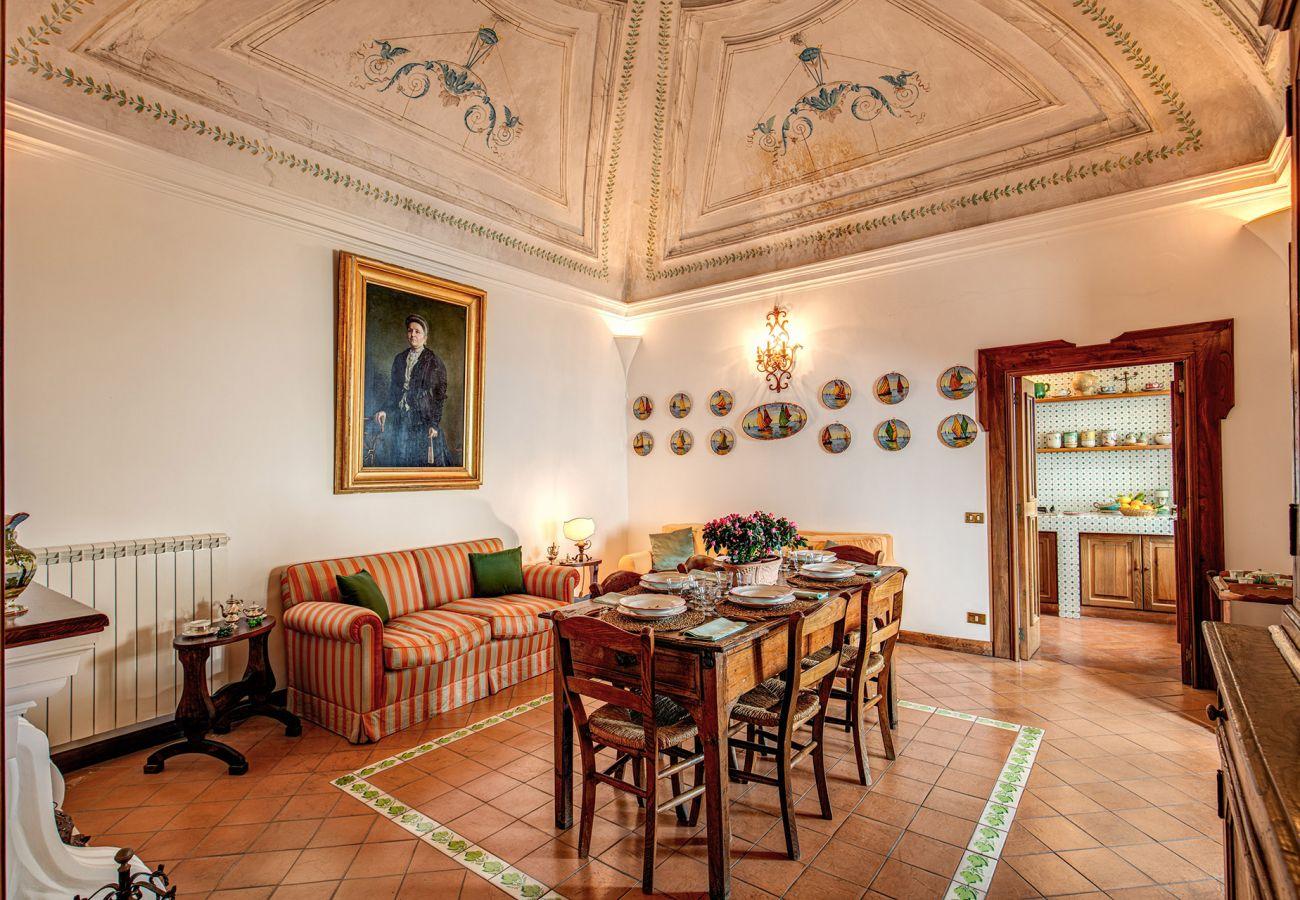 dining room with kitchen access, casa marina positano