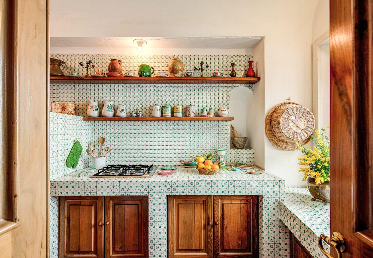bright classic kitchen holiday home casa marina positano