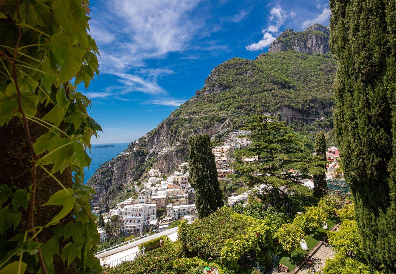 wonderful view from casa marina, overlooking positano and li galli islands