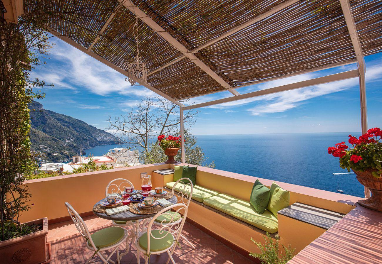 casa marina panoramic terrace, historic holiday house positano